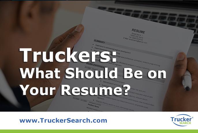 trucker-resume