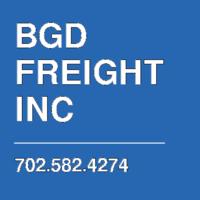 BGD FREIGHT INC