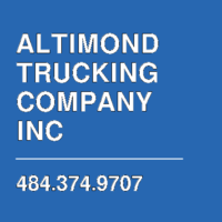 ALTIMOND TRUCKING COMPANY INC