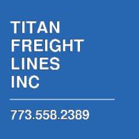 TITAN FREIGHT LINES INC