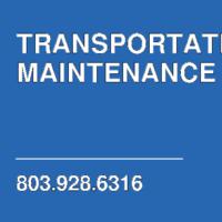 TRANSPORTATION MAINTENANCE