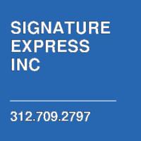 SIGNATURE EXPRESS INC