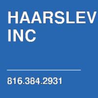 HAARSLEV INC