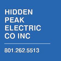 HIDDEN PEAK ELECTRIC CO INC