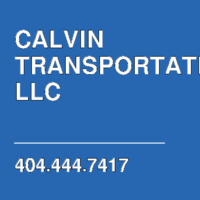 CALVIN TRANSPORTATION LLC