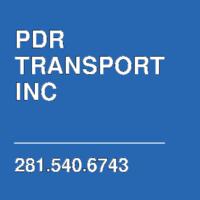 PDR TRANSPORT INC