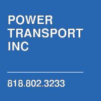 POWER TRANSPORT INC