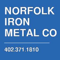 NORFOLK IRON  METAL CO